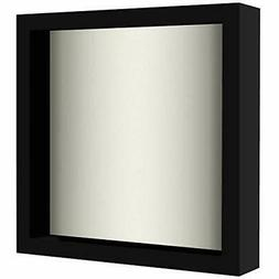 Americanflat 8x8 Shadow Box Frame in Black with Soft Linen B