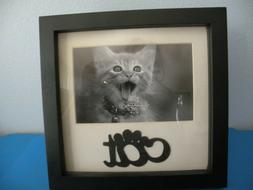 """Cat Kitten Kitty Shadow box Photo Frame 6x4"""" Picture NEW Gre"""