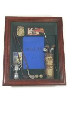 Golf Sports Shadow Box Photo Picture Frame Wall Tabletop Dec