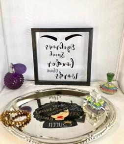 Make Up Quote Black Frame Shadow Box Table Decor Wall Accent