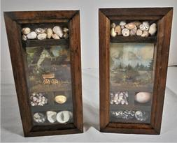 """Set of 2Small 6"""" x 3"""" Filled Shadow Boxes Home Decor Rea"""