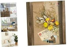 Shadow Box Frame Wall Mount Display Case Tabletop with Linen