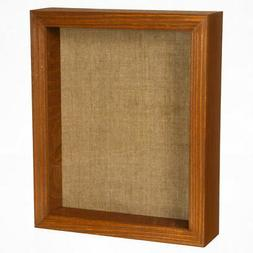 Shadow Box Picture Frame - Wood Display Case with Linen Back