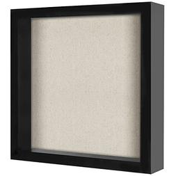 11x11 Inch Shadow Box Frame with Soft Linen Back - Perfect t