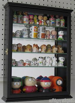 Small Wall Curio Cabinet Display Case Shadow Box for Figurin