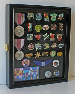 Small Wall Shadow Box Cabinet Display Case for Sport, Politi