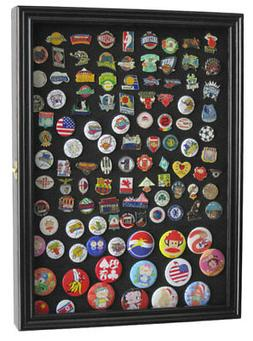 Wall Shadow Box Display Case for Lapel Sport Political Campa